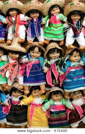 Colorful Handmade Dolls
