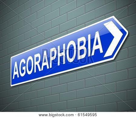 Agoraphobia Concept.