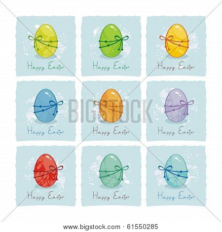 Colorful Easter Eggs Set