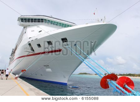 Tropical Ship At Port