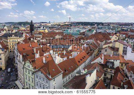 Beautiful landscape of Prague,Cesky