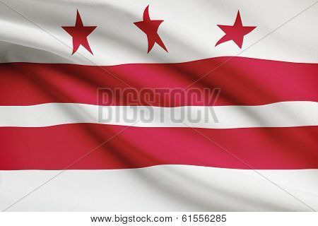 Series Of Ruffled Flags. District Of Columbia.