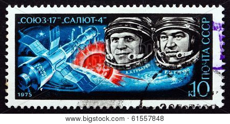 Postage Stamp Russia 1975 Gubarev And Grechko, Cosmonauts