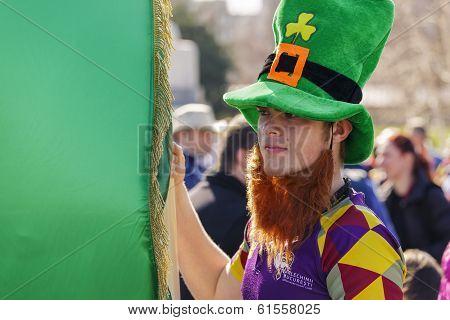 St. Patrick's Day In Bucharest, Romania.