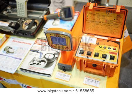 MOSCOW, RUSSIA - DEC 4, 2013: Cable line finder at Exhibition Electrical Networks of Russia - 2013 in exhibition center MosExpo (VVC).