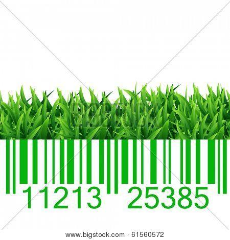 Bar code grass vector illustration