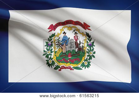 Series Of Ruffled Flags. State Of West Virginia.