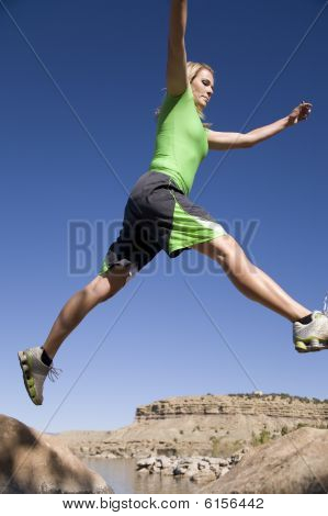 Woman Jumps