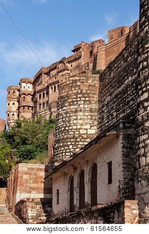 Mehrangarh fort. Jodhpur, India
