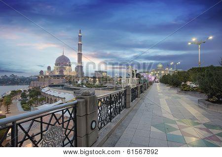 Putra Mosque At Sunset