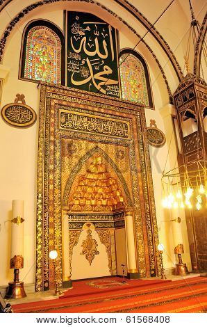 Great Mosque Mihrab Bursa, Turkey