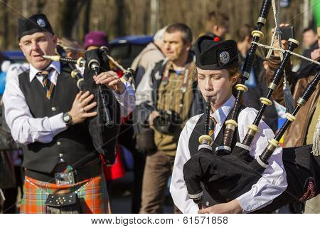 Traditional Irish Bagpipe Band