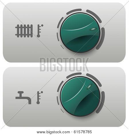 Illustration regulator boiler heating and hot water.