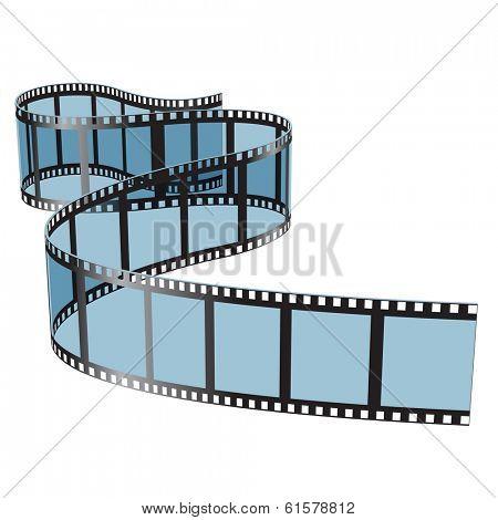 Illustration film on white background.