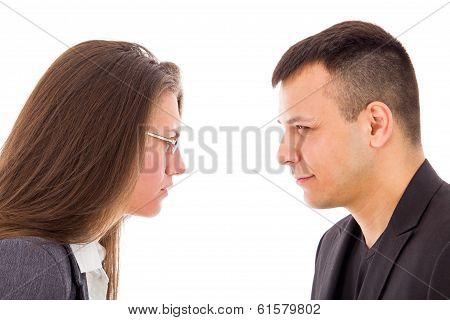 Angry Couple Not Trusting Each Other