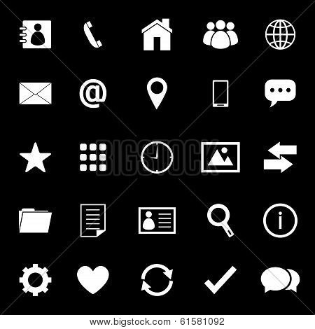 Contact Icons On Black Background