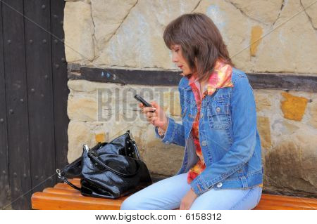 Woman with cellphone