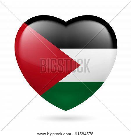 Heart icon of Palestine
