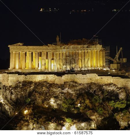 Parthenon on Acropolis of Athens Greece
