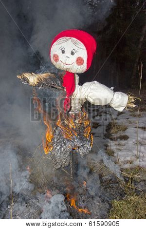 Celebration Of Shrovetide - Traditional Russian Holiday.