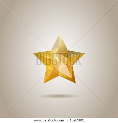 Low-poly Abstract Polygonal Star