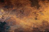 stock photo of scratch  - Detail view of an old scratched copper texture surface - JPG