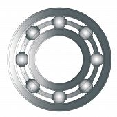 stock photo of bearings  - A typical ball bearing isolated over a white background - JPG