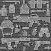 Seamless Military Pattern 03