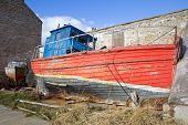 Dilapidated  wooden boat