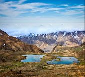 pic of himachal  - Mountain lakes in Spiti Valley in Himalayas - JPG