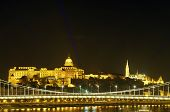 Buda Castle And Fisherman Bastion By Night, Budapest