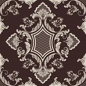 Vector damask seamless pattern element.
