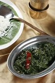 stock photo of tamil  - Close up view of Spinach Keerai - JPG
