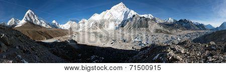 Gorak Shep Village, Pumo Ri, Nuptse And Kala Patthar View Point On The Way To Everest Base Camp - Ne