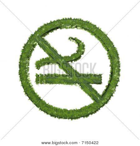 Grass No Smoking Symbol