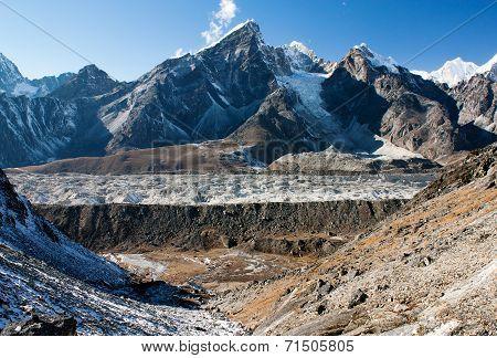 Khumbu Glacier And Lobuche Peak From Kongma La Pass - Trek To Everest Base Camp - Nepal