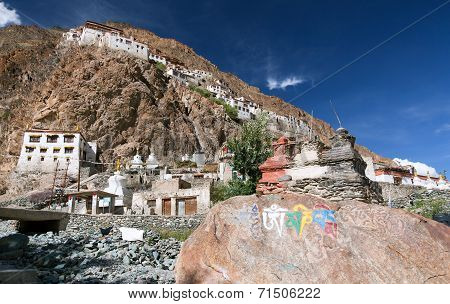 Karsha Gompa - Buddhist Monastery In Zanskar Valley - Ladakh - Jamu And Kashmir - India