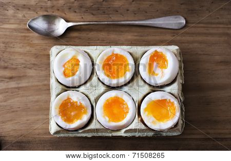 Half A Dozen Soft Boiled Eggs.