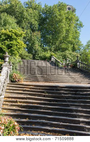 Majestic Stone Flight Of Stairs In A Park