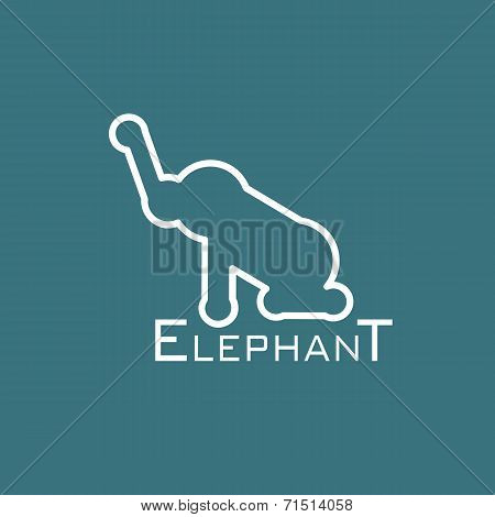 Vector image of an elephant design