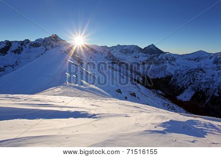Tatra Mountains In Winter. High Mountains In Winter.