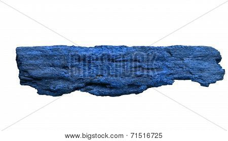 Blue Bark With White. Background For A Wooden Sign.
