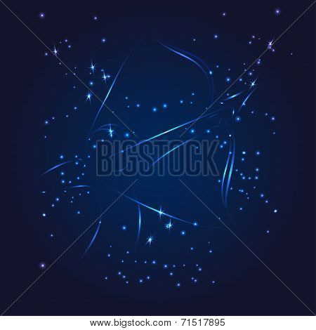 Sagittarius zodiac whith glitter star