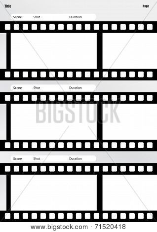 Storyboard Film Template Vertical