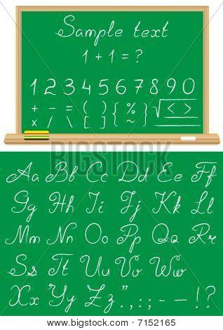 Font A School Chalk