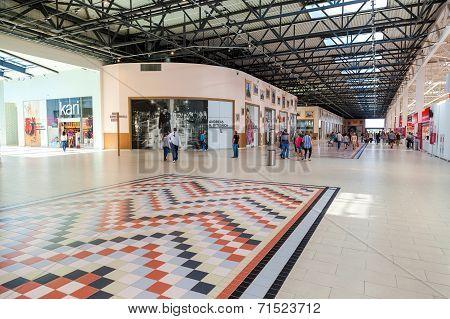 Samara, Russia - August 30, 2014: Inside Of The Samara Hypermarket Ambar. The One Of Largest Shoppin