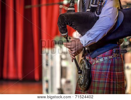 Scottish Musicien Bagpiper