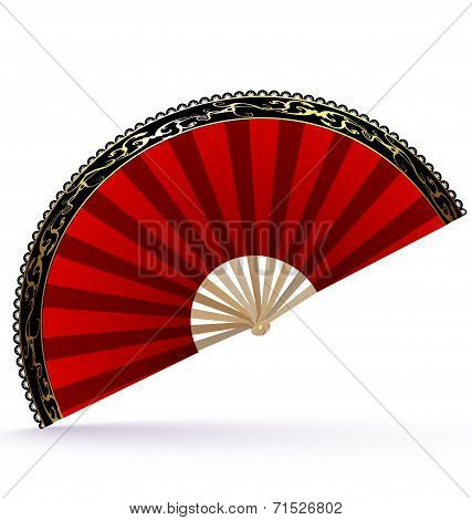 red-golden fan