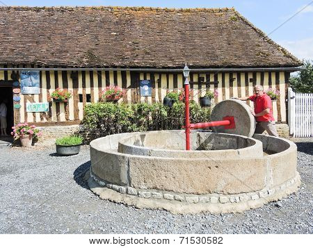 Old Apple Press On Normandy Cider Route