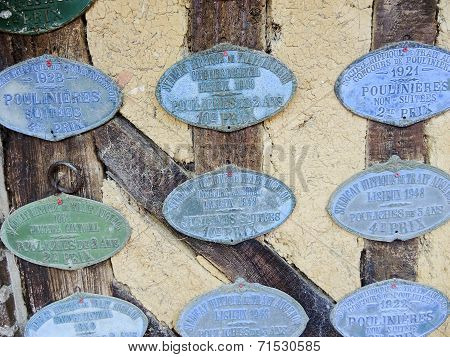 Old Commemorative Badges Of Cider Producers